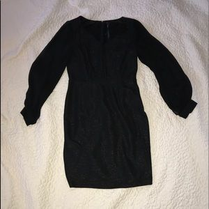 Black Marc New York dress with sheer sleeves